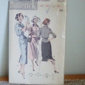 Butterick#8224 Vintage Dress/Jacket Pattern